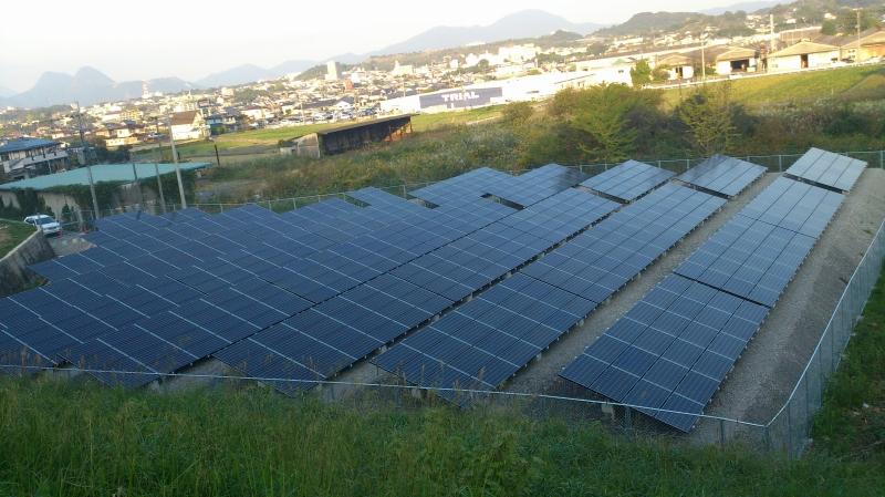産業用太陽光システム165kw